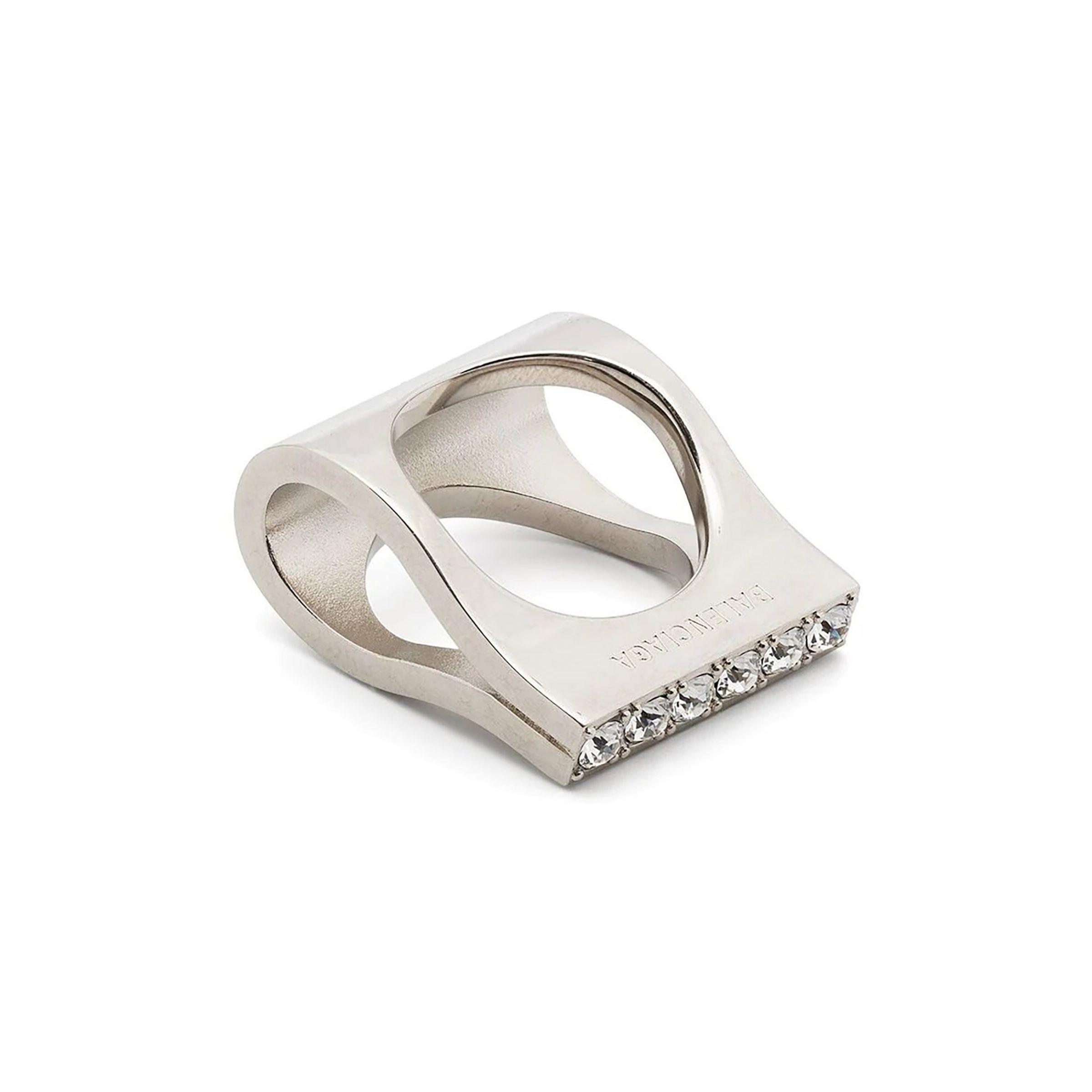 Кольцо Balenciaga BLAZE ROW серебряное