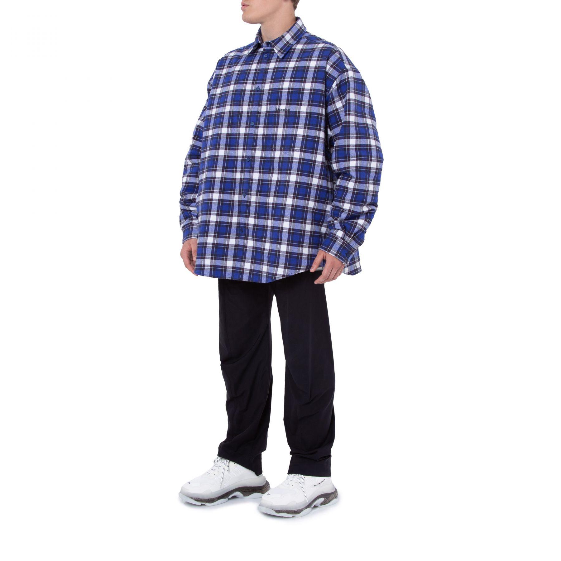 Рубашка с длинными рукавами Balenciaga синяя