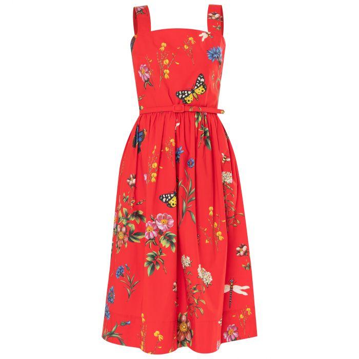 Платье Oscar de la Renta красное