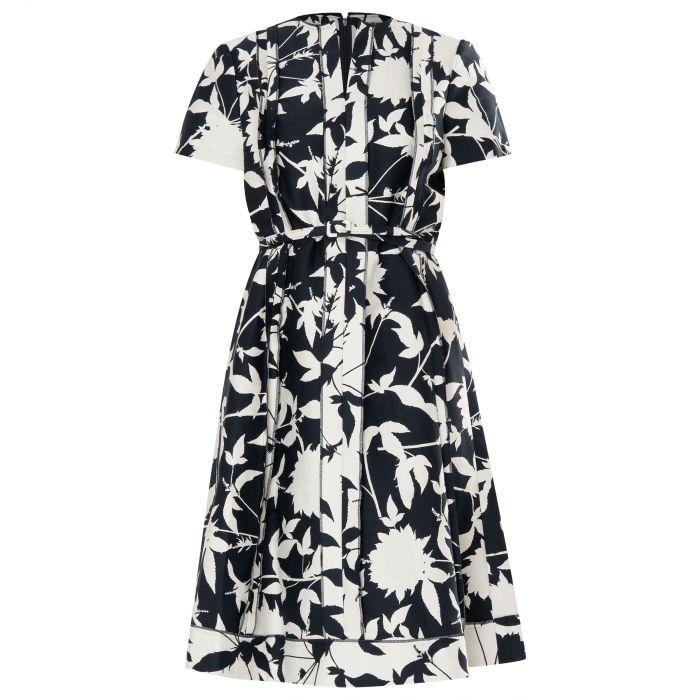 Платье Oscar de la Renta черно-белое