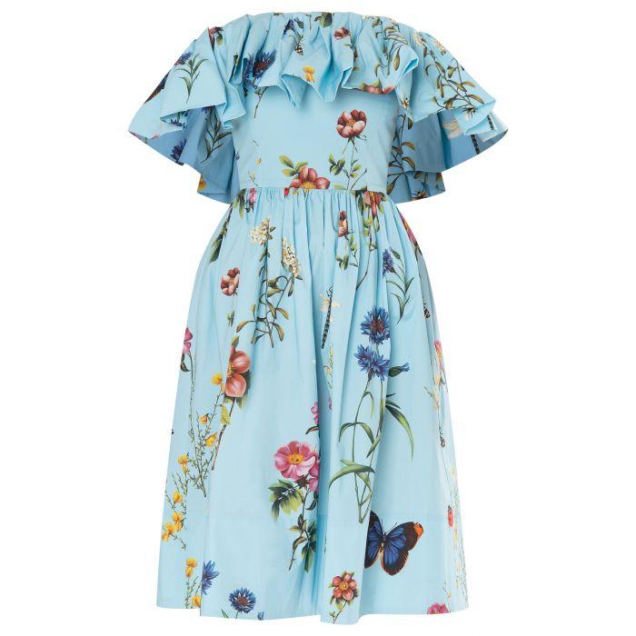 Платье Oscar de la Renta голубое