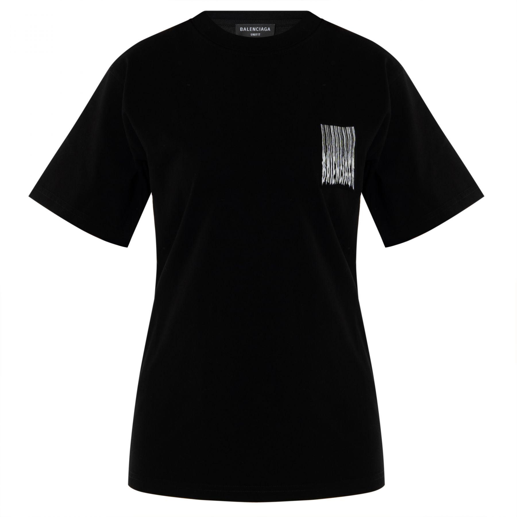 Футболка Balenciaga черно-белая