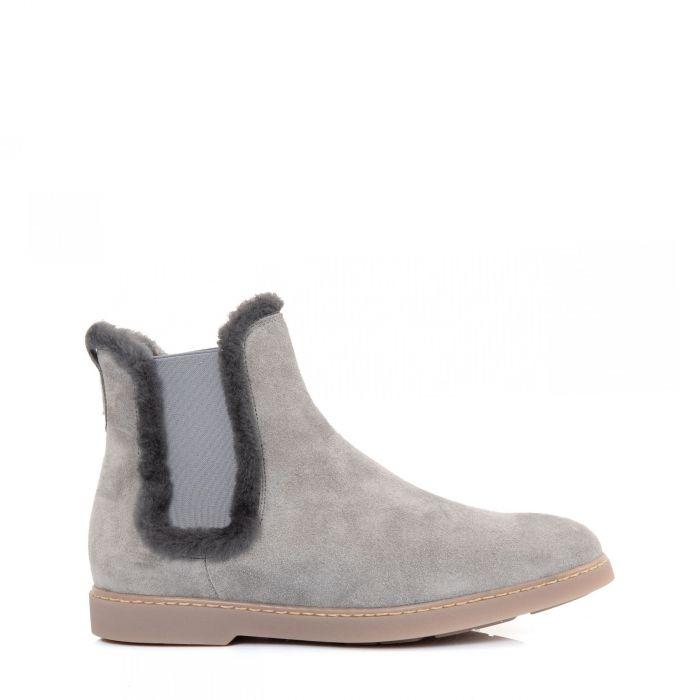 Ботинки на меху Doucal's серые