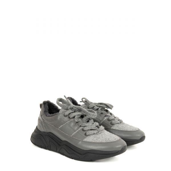 Кроссовки на меху Doucal's серые
