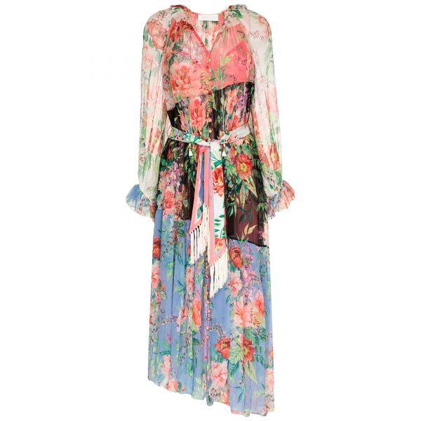 Платье длинное Zimmermann Bellistude разноцветное