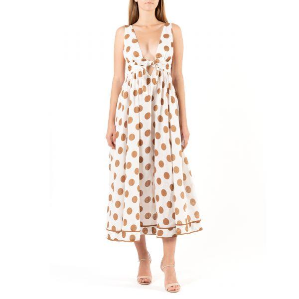 Платье длинное Zimmermann Empire белое