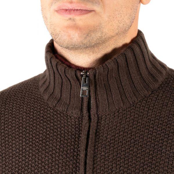Кардиган Luigi Borrelli коричневый