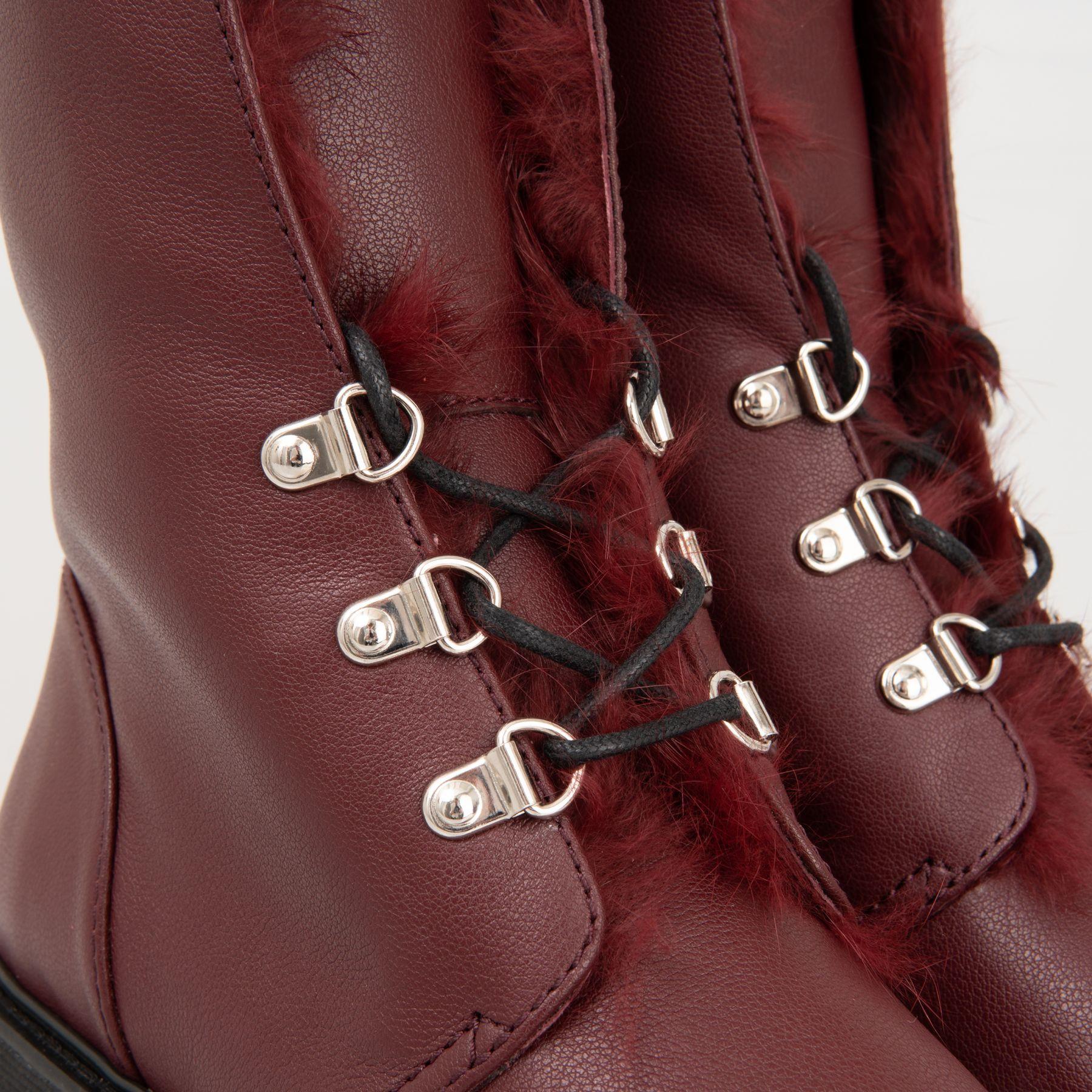 Ботинки флет на меху Giuseppe Zanotti бордо