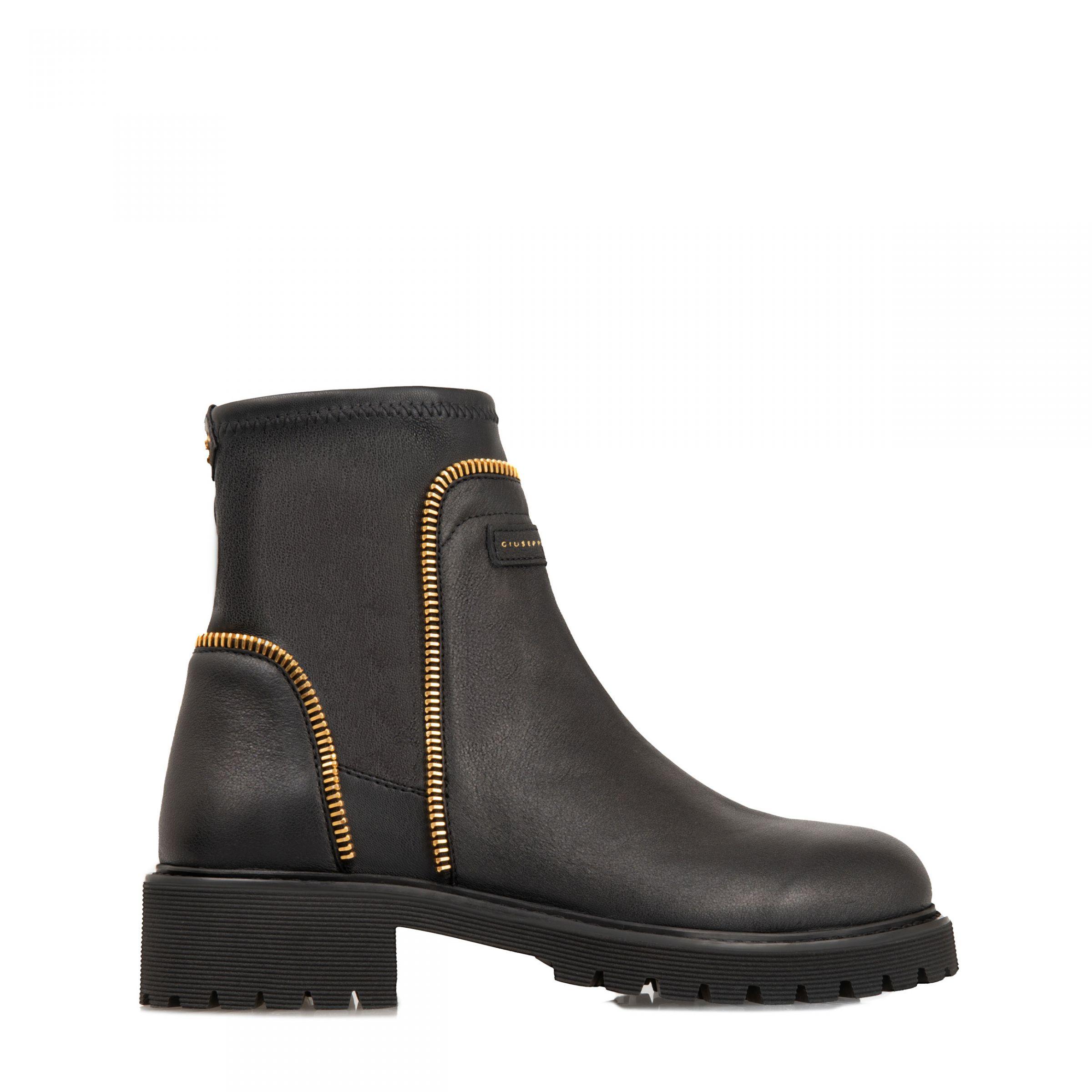 Ботинки флет Giuseppe Zanotti Rodger черные