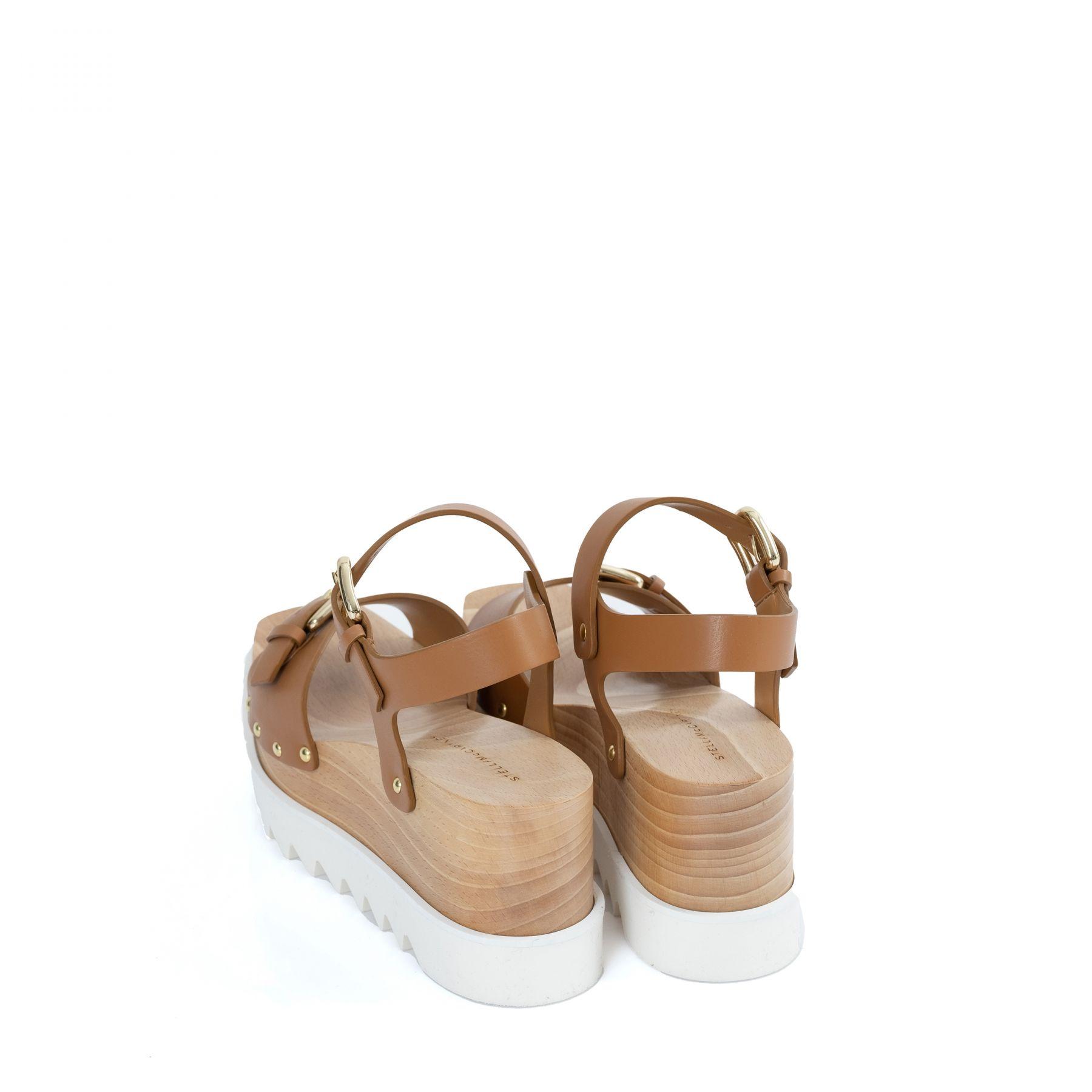 Босоножки Stella McCartney Elyse коричнево-белые