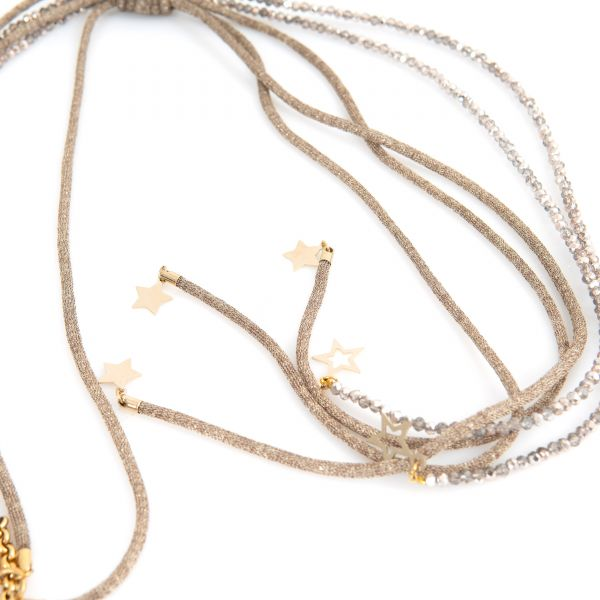 Ожерелье Lorena Antoniazzi бежевое