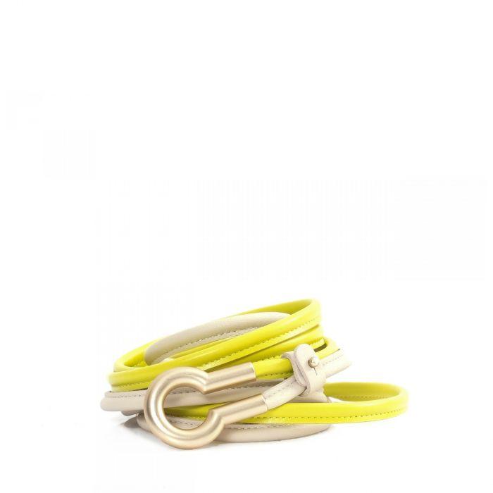 Ремень Lorena Antoniazzi желто-белый