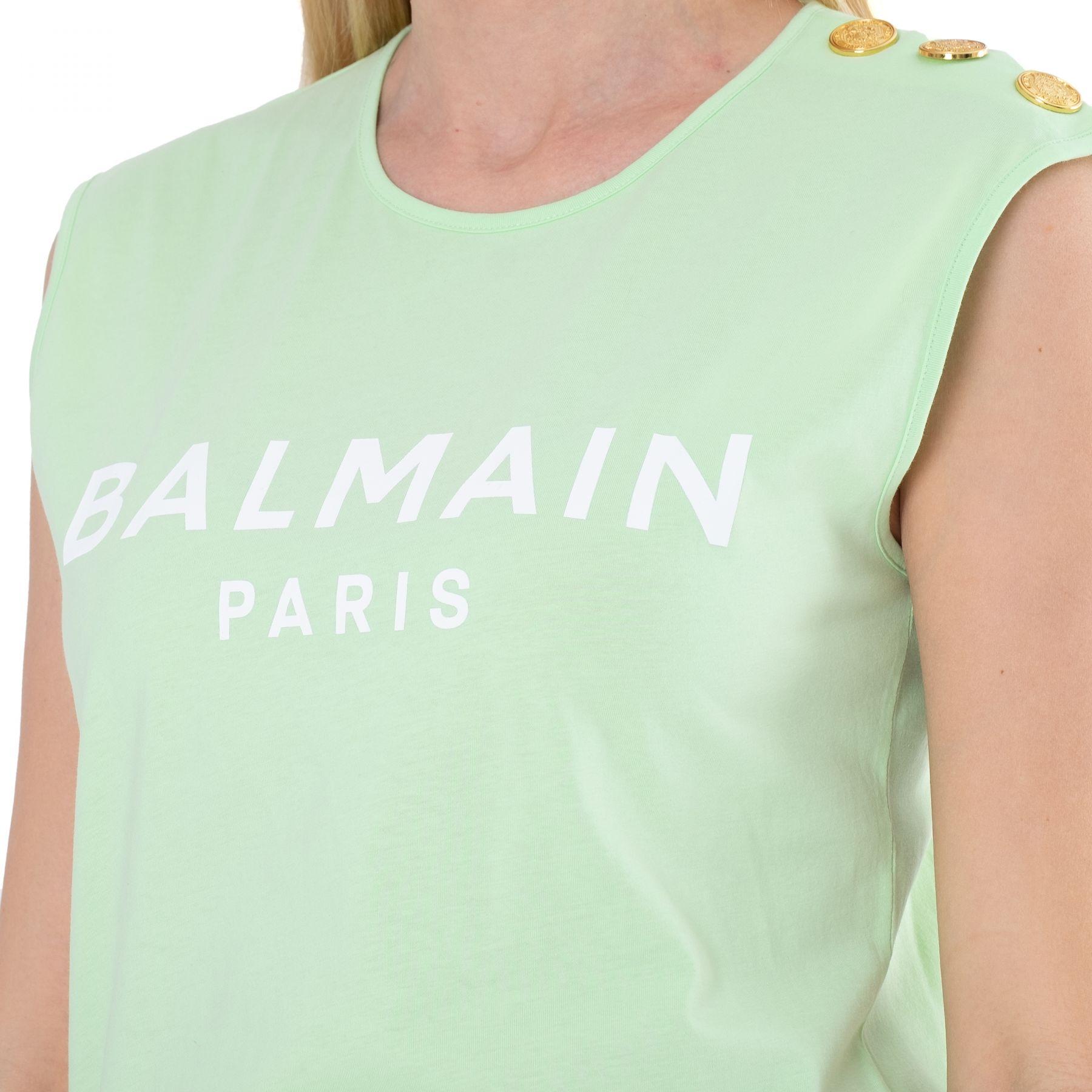 Топ Balmain лаймовый
