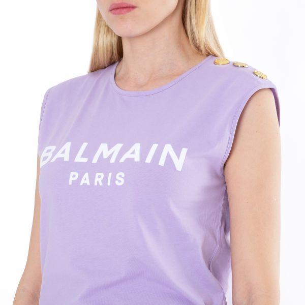Топ Balmain лиловый
