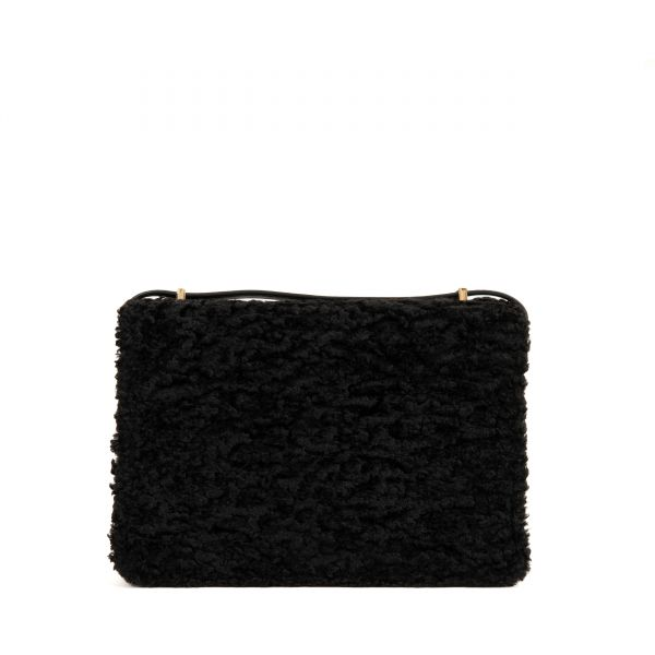 Сумка Marc Jacobs The J Link Faux Fur черная