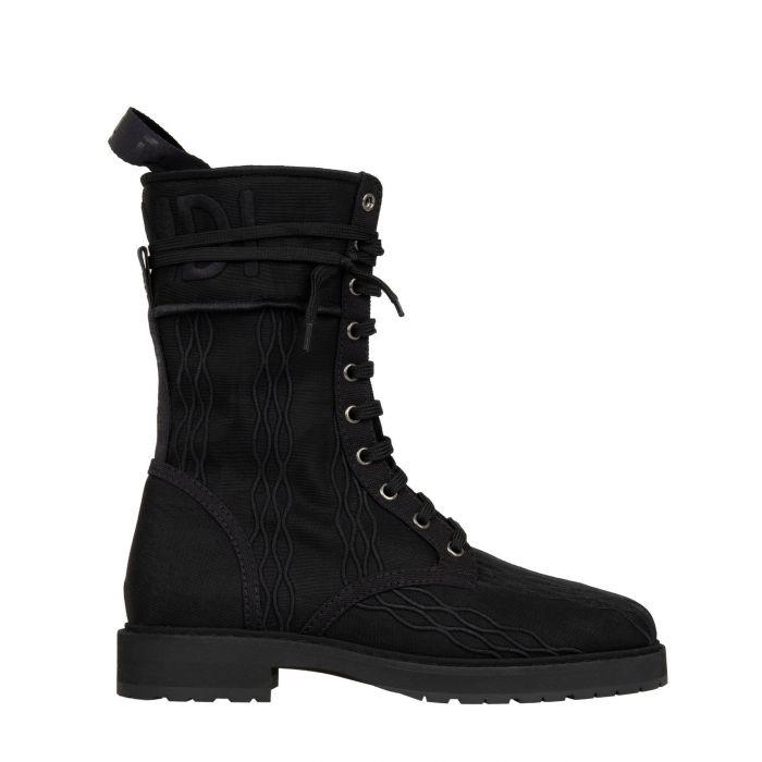 Ботинки флет Fendi SIGNATURE черные