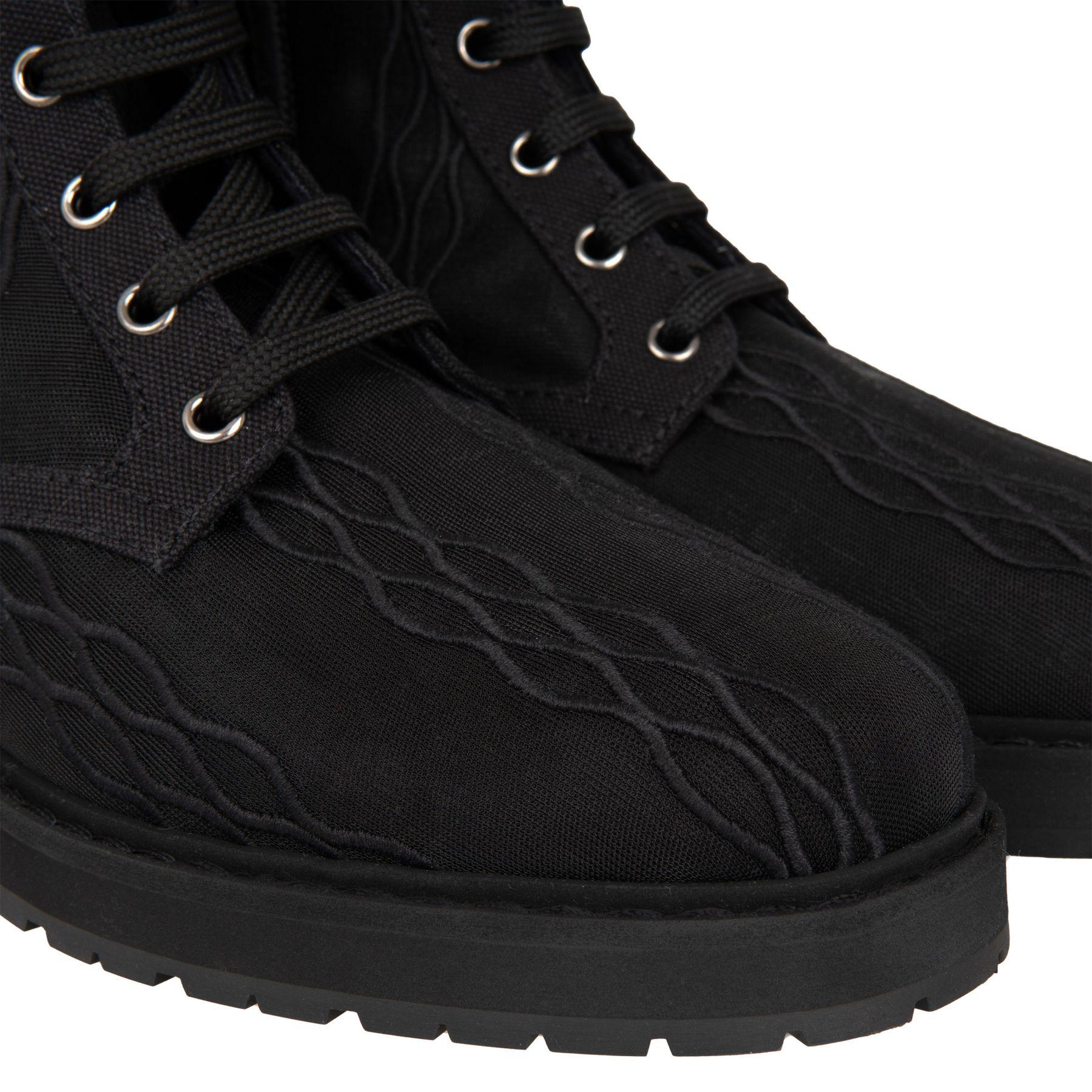 Ботинки флет Fendi черные