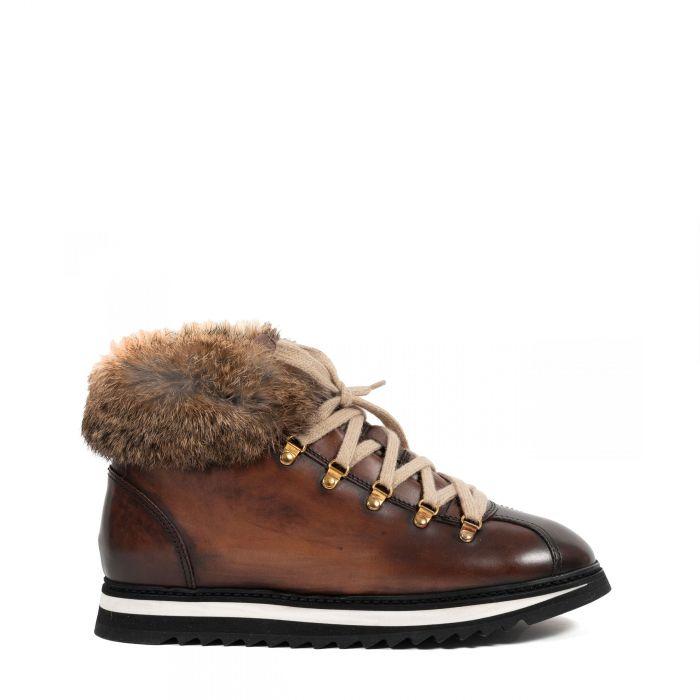 Ботинки флет на меху Doucal's коричневые