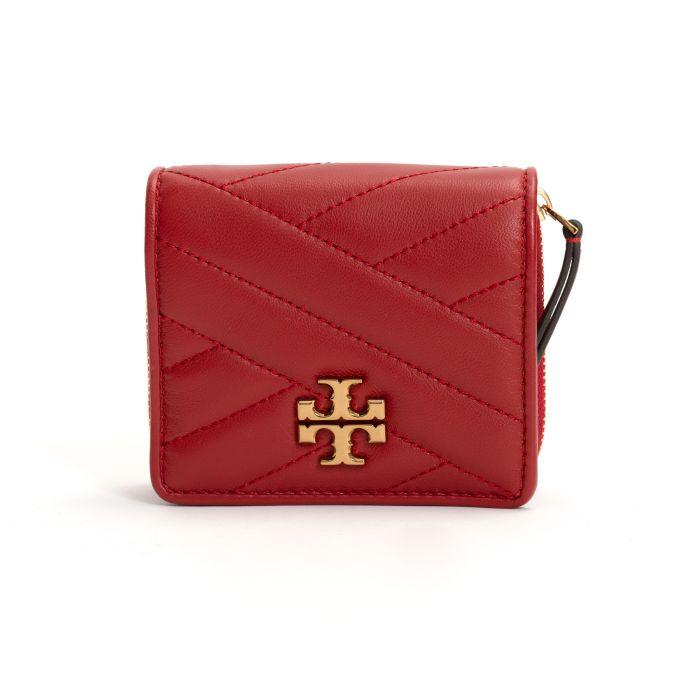 Портмоне Tory Burch Kira Chevron Wallet красное