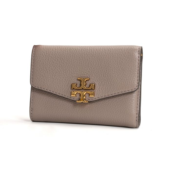 Портмоне Tory Burch Kira Flap Wallet бежевое