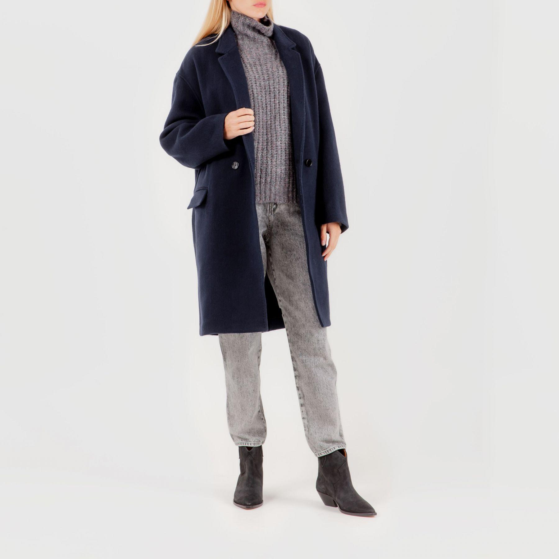 Пальто Isabel Marant темно-синее