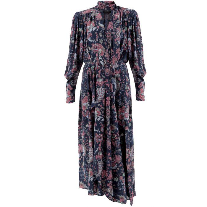 Платье длинное Isabel Marant темно-синее