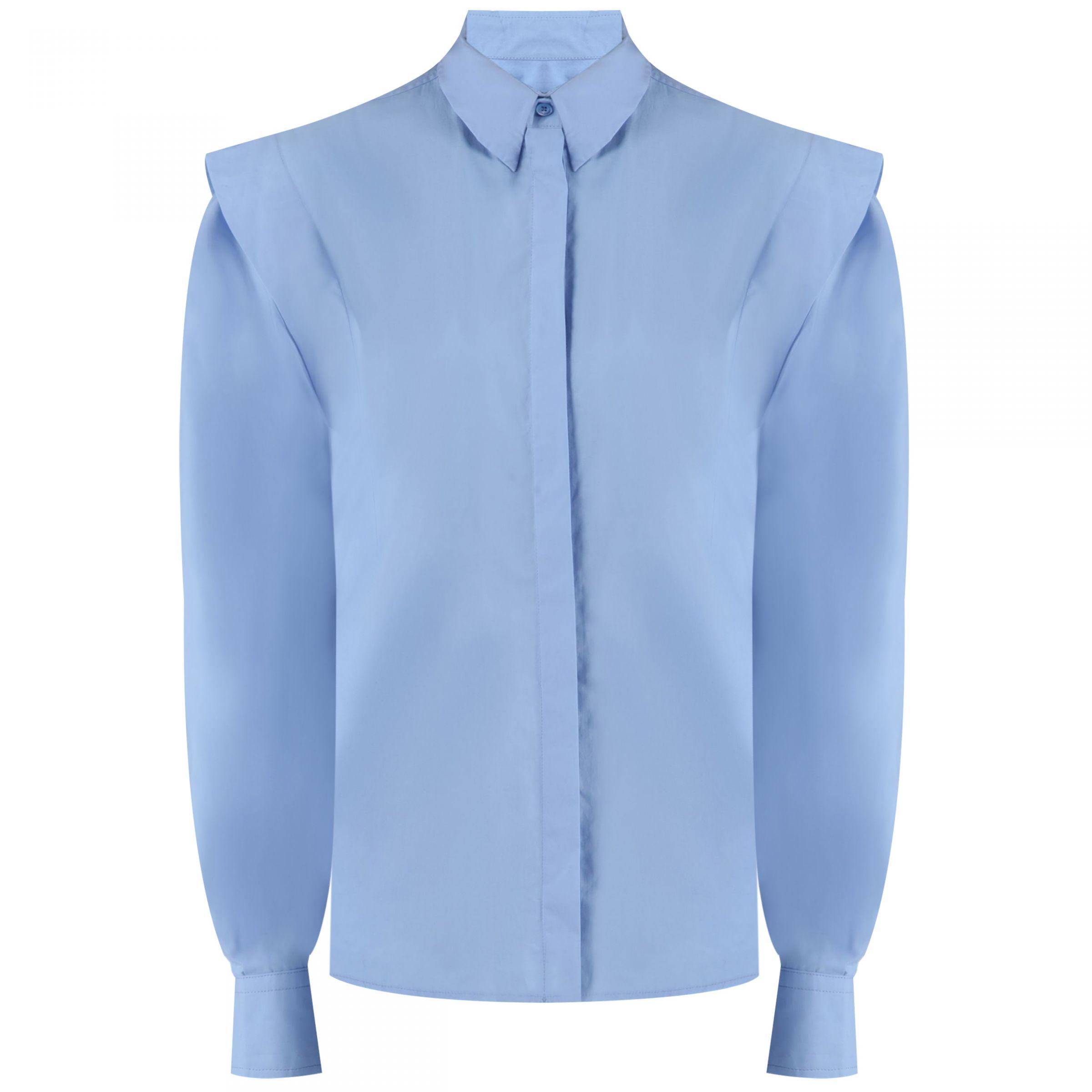 Рубашка с длинными рукавами Isabel Marant голубая