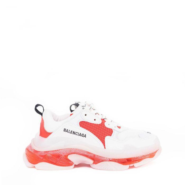 Кроссовки Balenciaga Triple S бело-красные