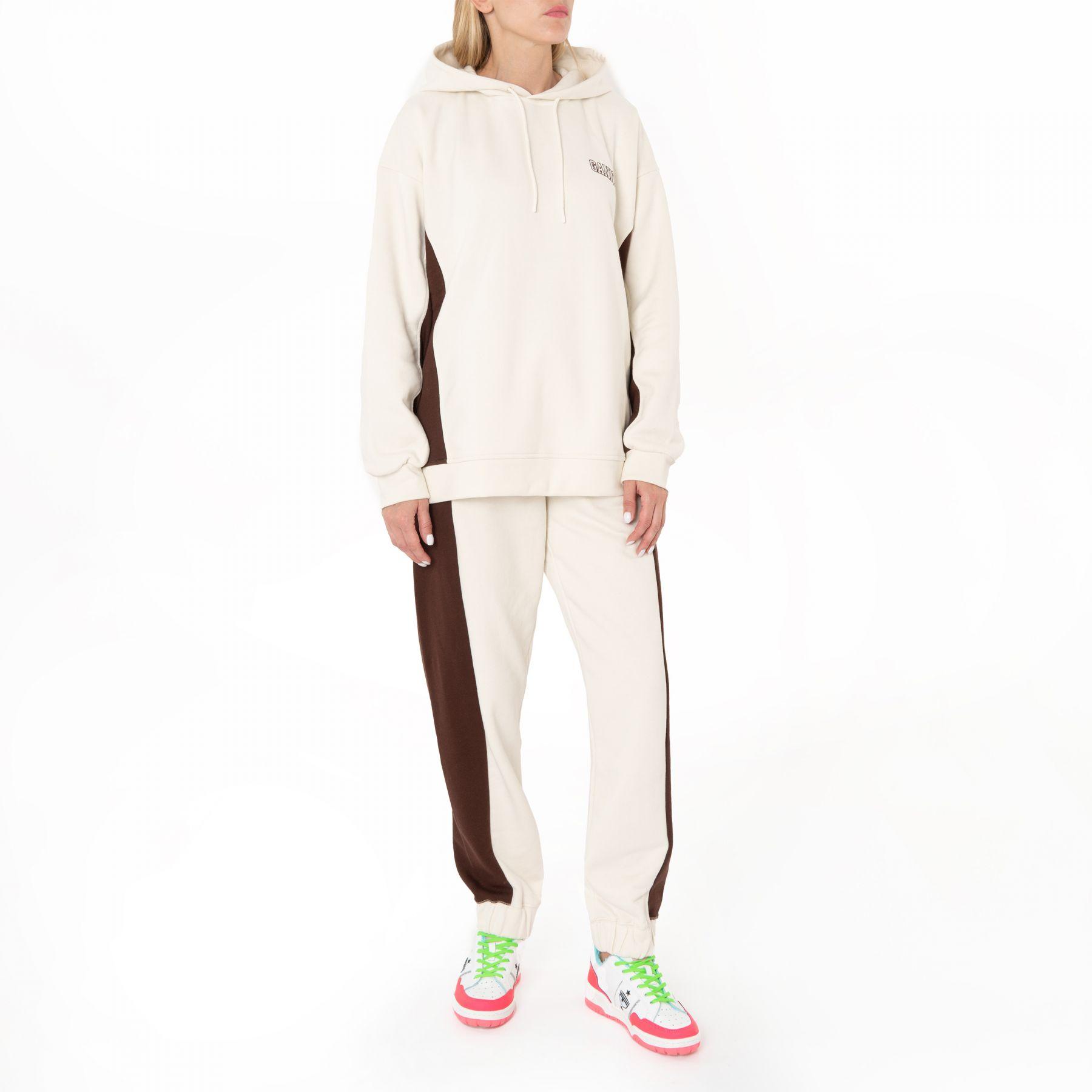 Спортивные брюки Ganni бежевые