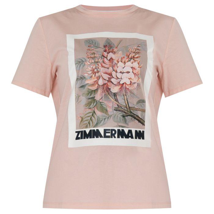 Футболка Zimmermann Botanica пудровая
