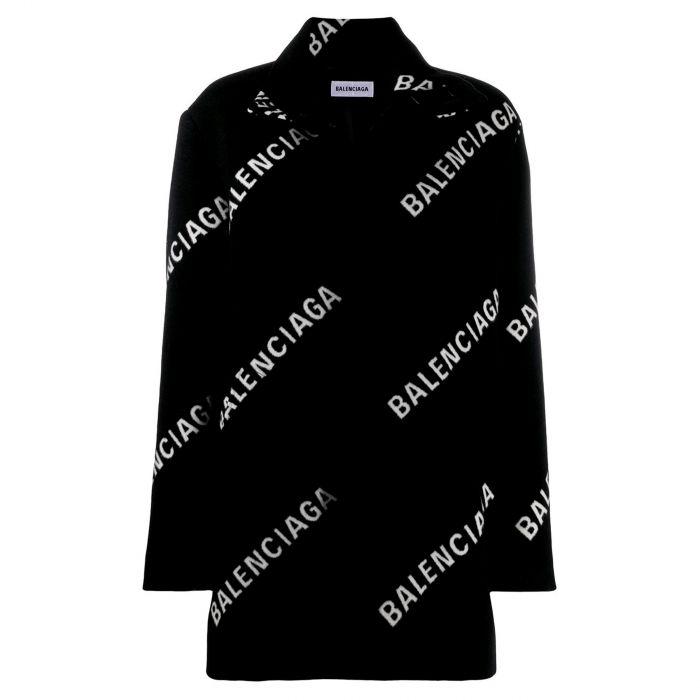 пальто Balenciaga черное