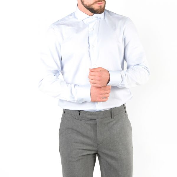 Рубашка длин.рук. Luigi Borrelli светло-голубая
