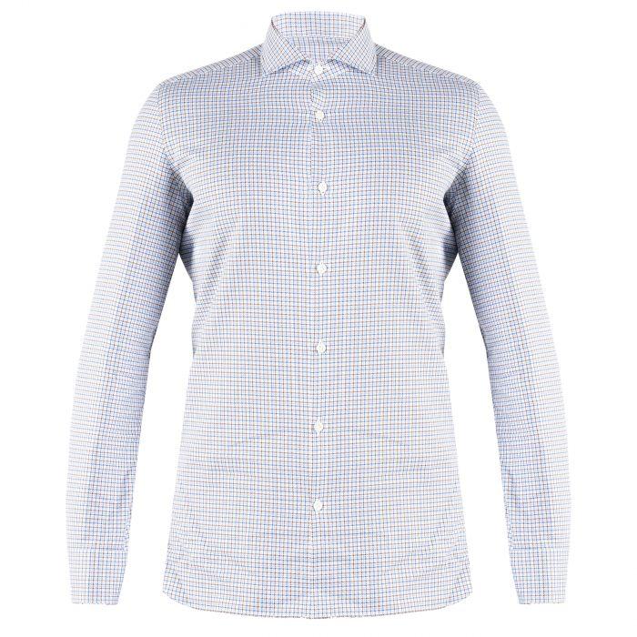 Рубашка с длинными рукавами Luigi Borrelli бело-синяя