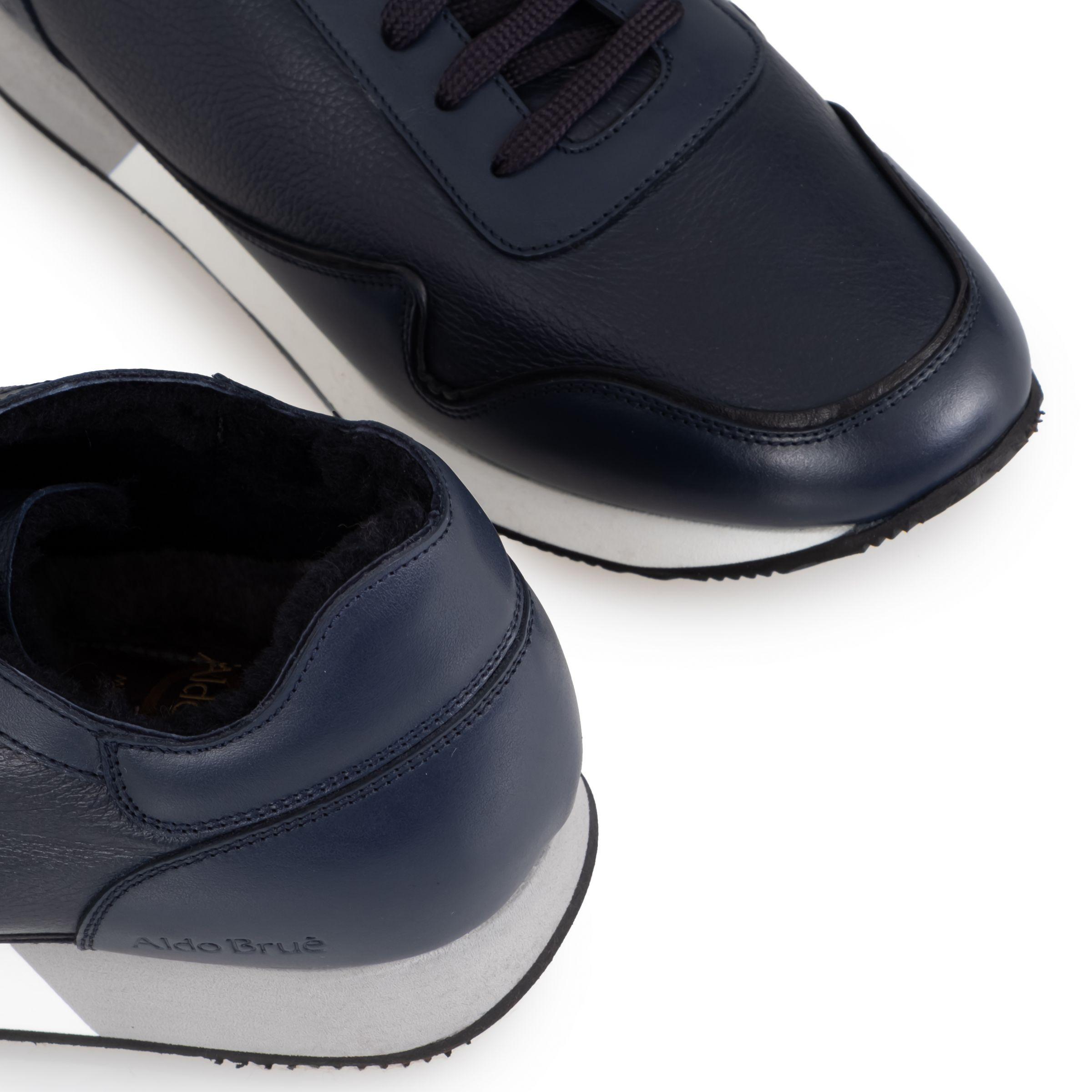 Кроссовки на меху Aldo Brue синие