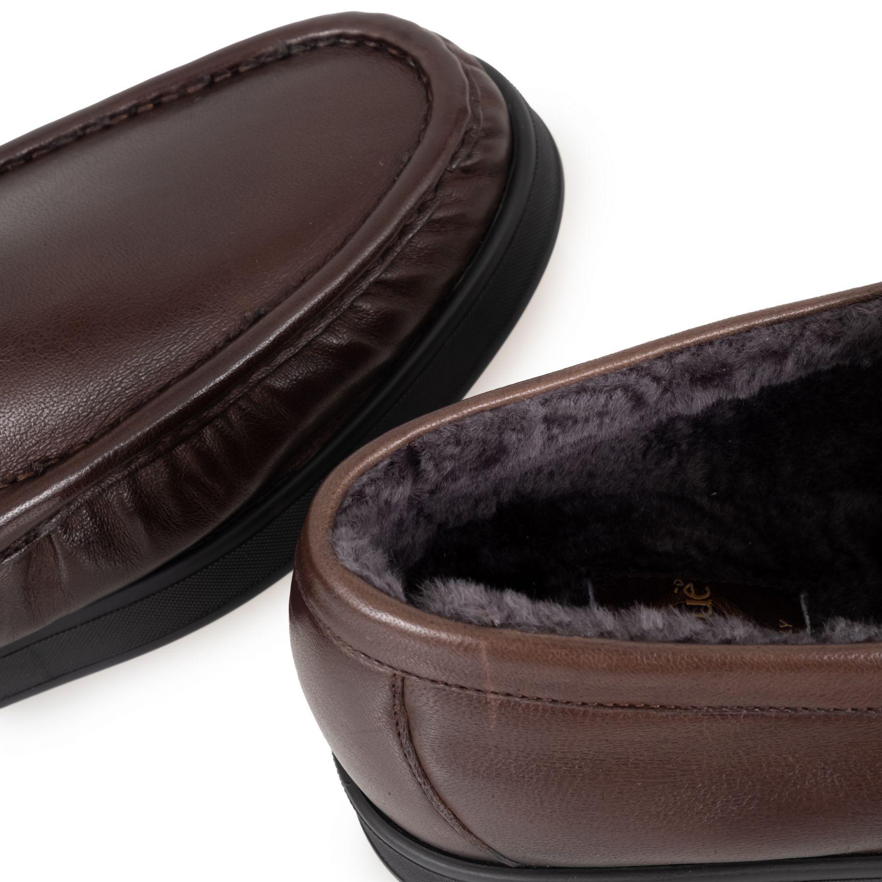 Мокасины на меху Aldo Brue коричневые