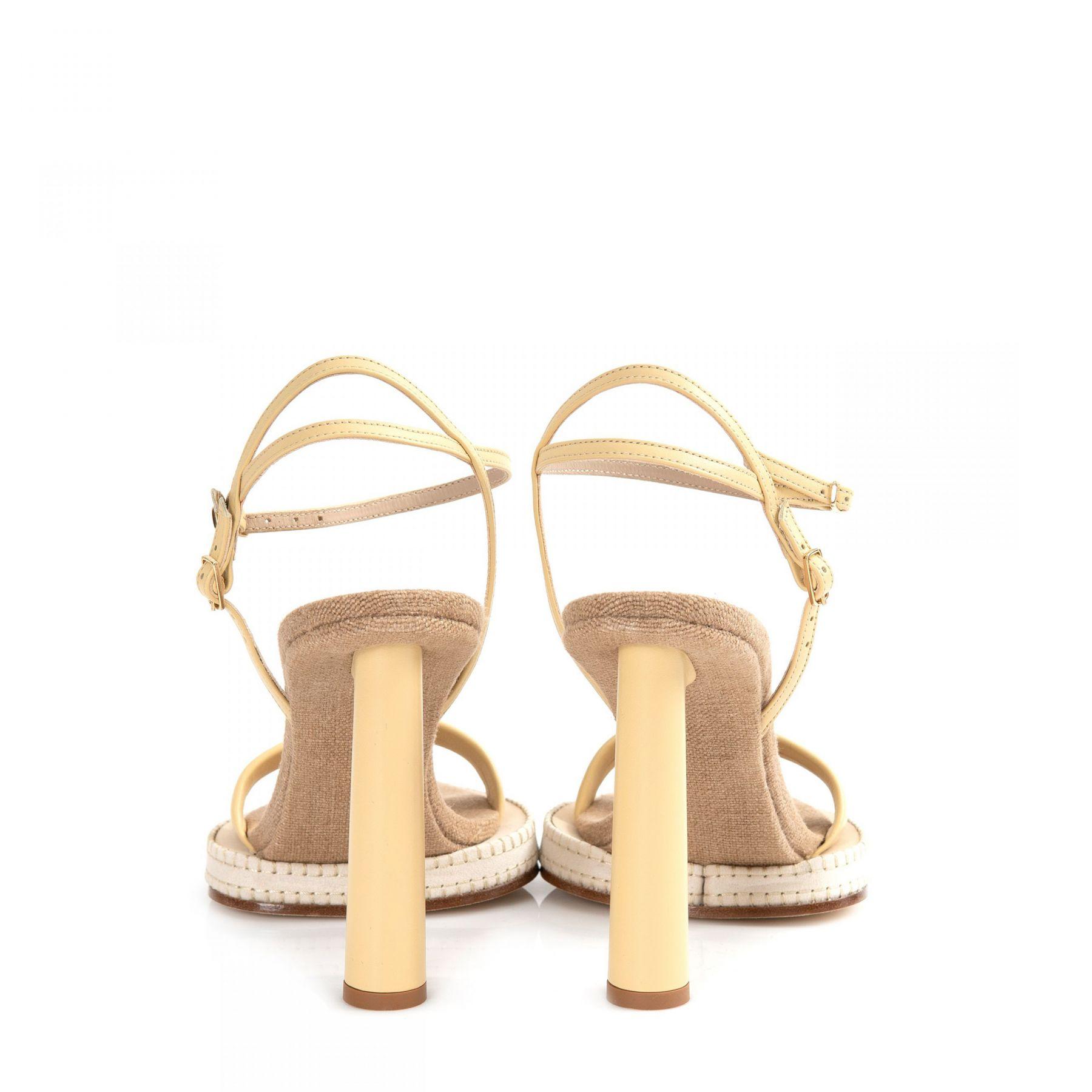 Босоножки Jacquemus Les sandales Novio бежевые