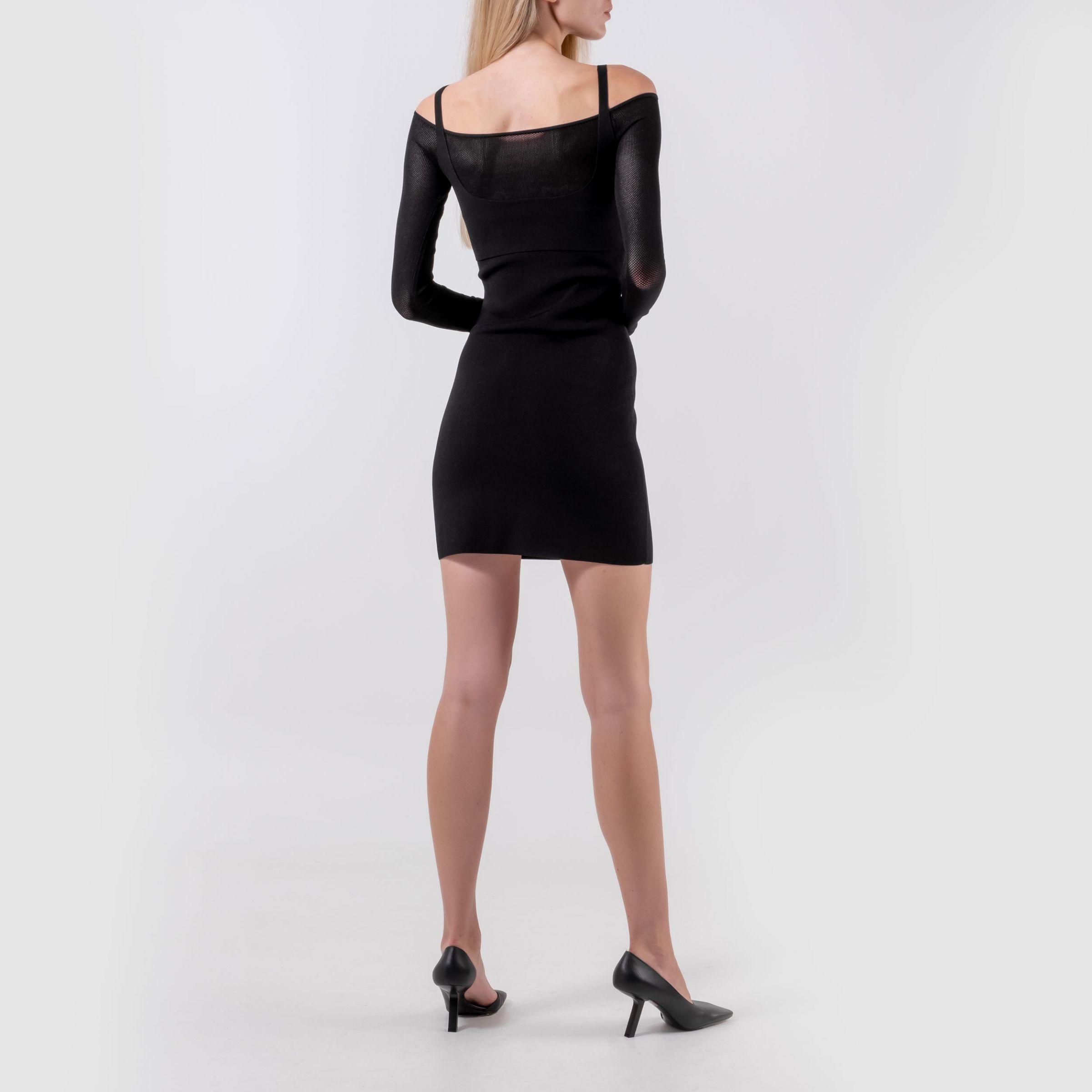 Платье Dion Lee Hosiery Mesh черное