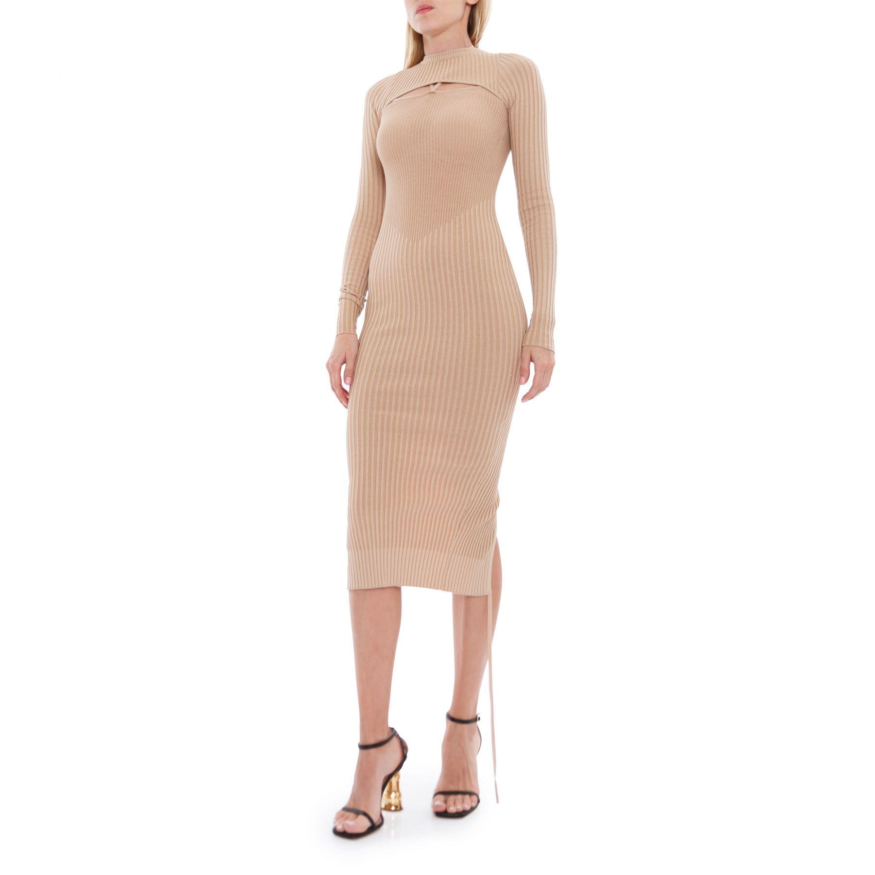 Платье Adamo бежевое