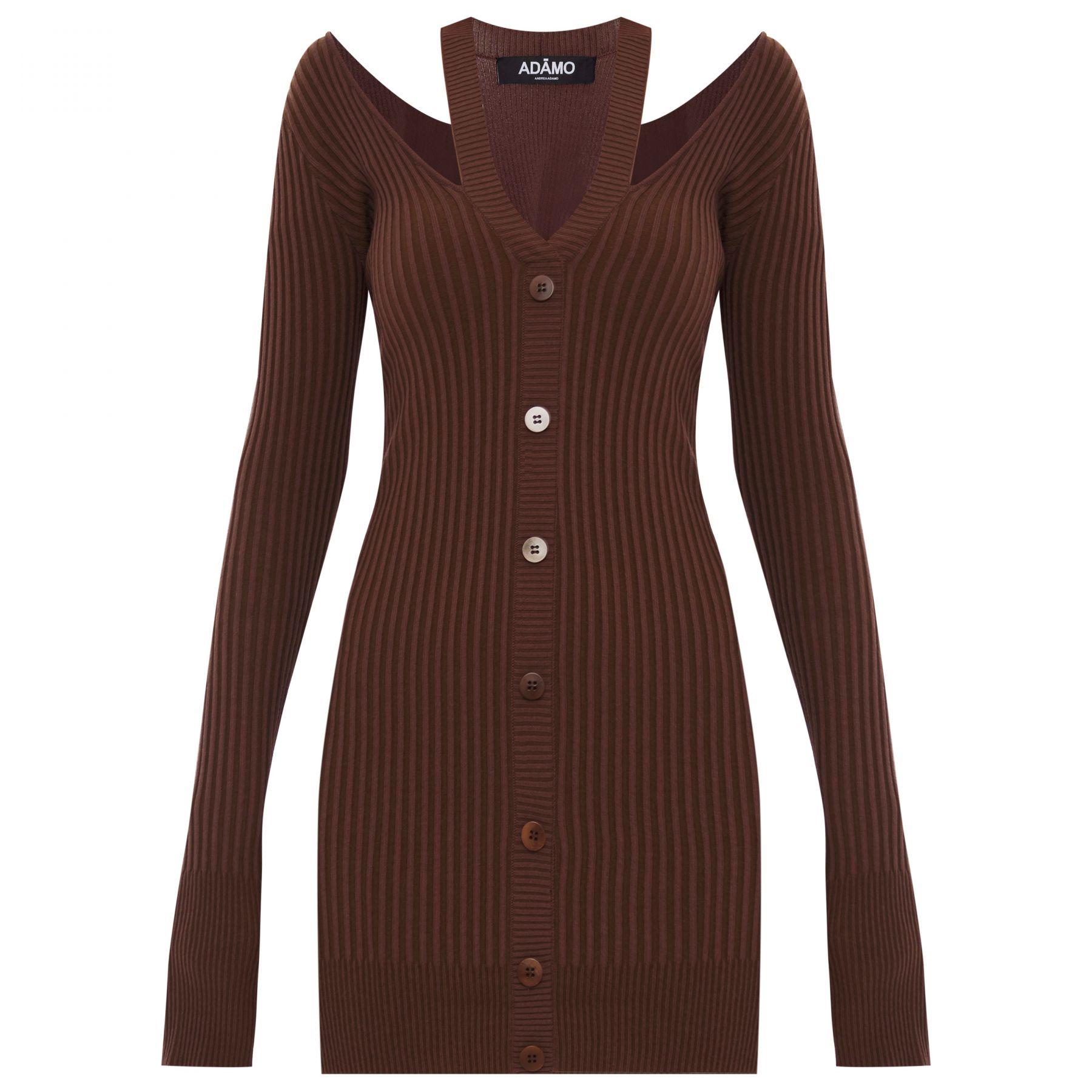 Платье Adamo коричневое