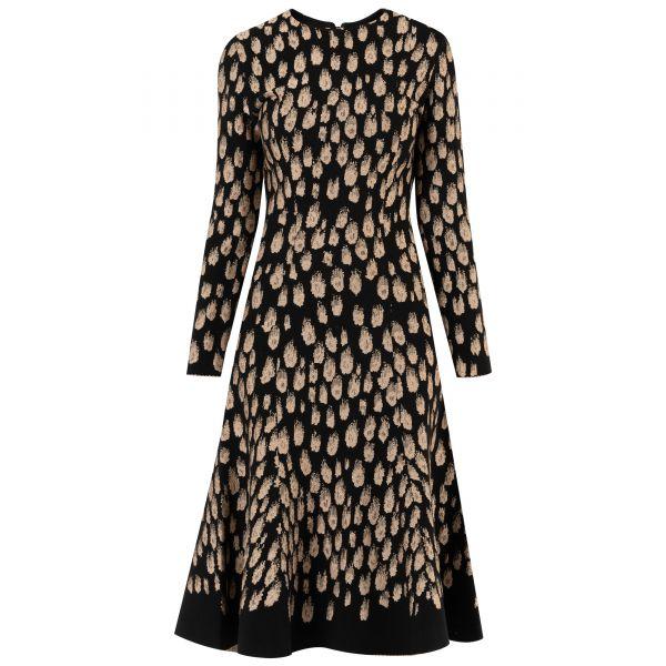 Платье Oscar de la Renta черно-золотистое