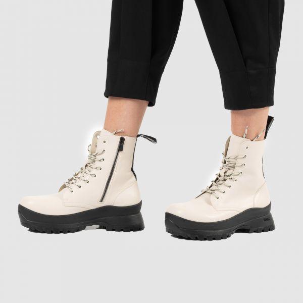 Ботинки флет Stella McCartney Trace кремовые