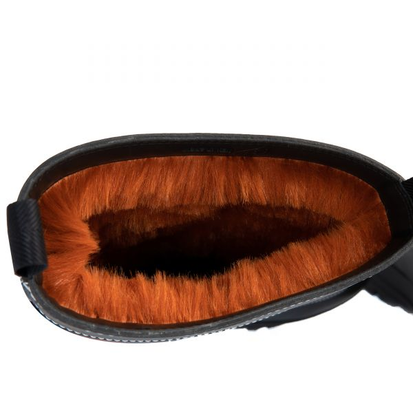Сапоги на меху Stella McCartney Trace Utility черные