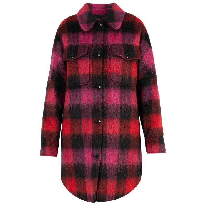 Пальто Woolrich красно-черное