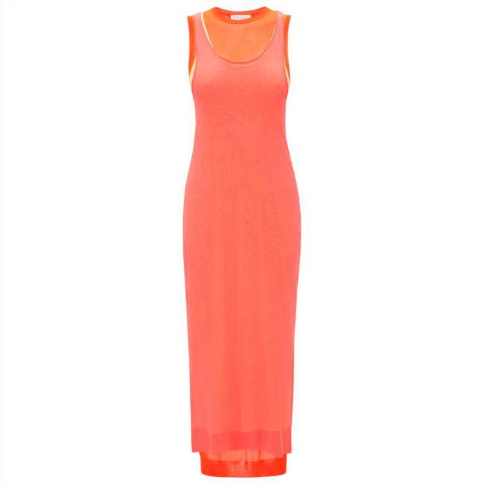 Платье длинное J.W.Anderson оранжевое