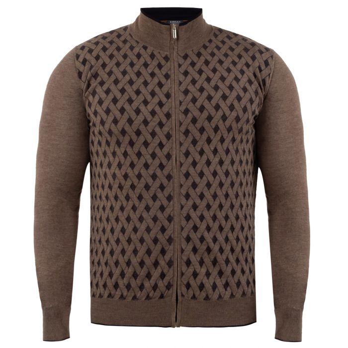 Кардиган Bertolo Cashmere коричневый