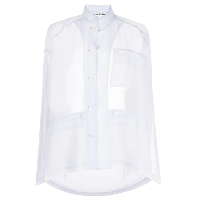 Рубашка длин.рук. Acne Studios Shana Poly голубая