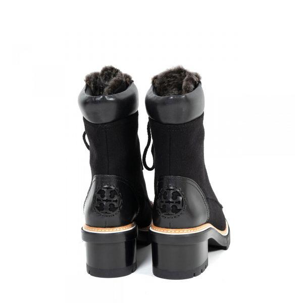 Ботинки флет на меху Tory Burch черные