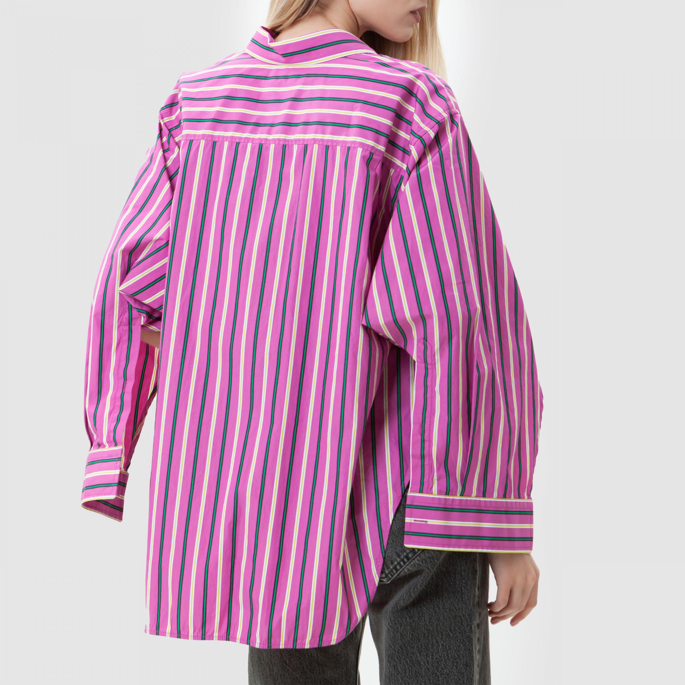 Рубашка с длинными рукавами Balenciaga SWING TWISTED розовая