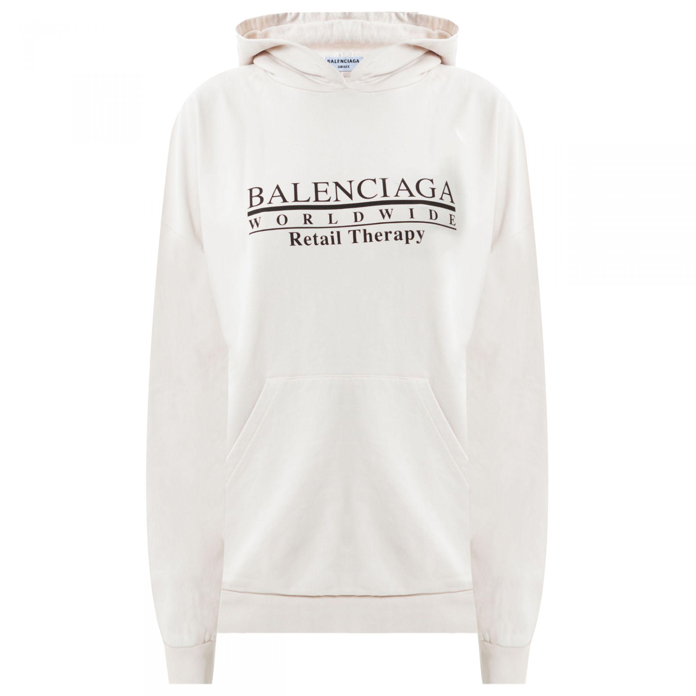 Худи Balenciaga RETAIL THERAPY белое