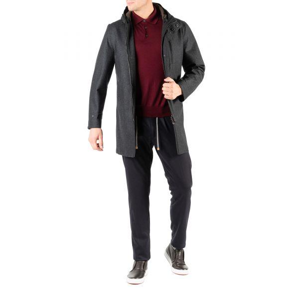 Пальто Luigi Borrelli темно-серое